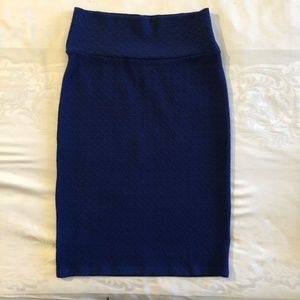 "NWOT LULAROE ""CASSIE"" ROYAL BLUE PENCIL SKIRT"